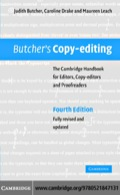 Since its first publication in 1975, Judith Butcher's Copy-editing has become firmly established as a classic reference guide