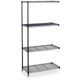 Wire Shelving Industrial 4-Shelf Add-On Unit