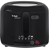 T-fal FF1228 Compact 1200-Watt Cool Touch Electric Deep Fryer with Adjustable Temperature and 1.8-Liter Oil Capacity, 2.2-Pound, Black