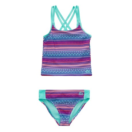Printed Tankini Set - Brief Bottoms (for Girls)