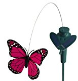 Solaration 7002 Solar Yard Stake Fluttering Butterfly, Solar or Battery Powered