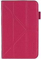 ROOCASE GA7TAB3OGSSMA Origami slim shell case cover for 7 inch Samsung Galaxy Tab 3 comes in pink color and has auto sleep wake function that puts device to sleep when open and close