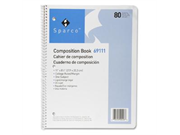 Sparco Products SPR69111 Composition Book- 80 Sheets- College Ruled- 11in.x8-.50in.- WE