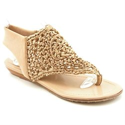 Enzo Angiolini Xaivi Womens Beige Open Toe Textile Dress Sandals Shoes