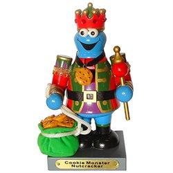 8 Sesame Street Cookie Monster Wooden Christmas Nutcracker