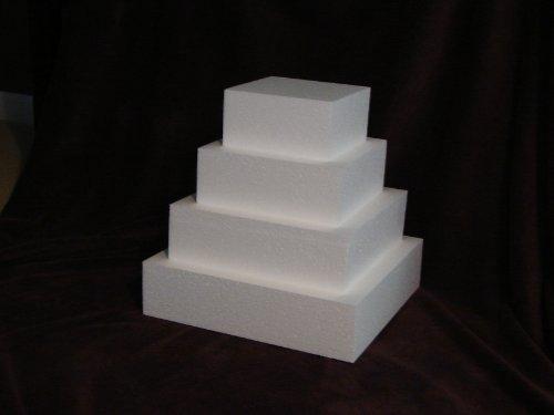 Square Cake Dummy 4 piece set 3