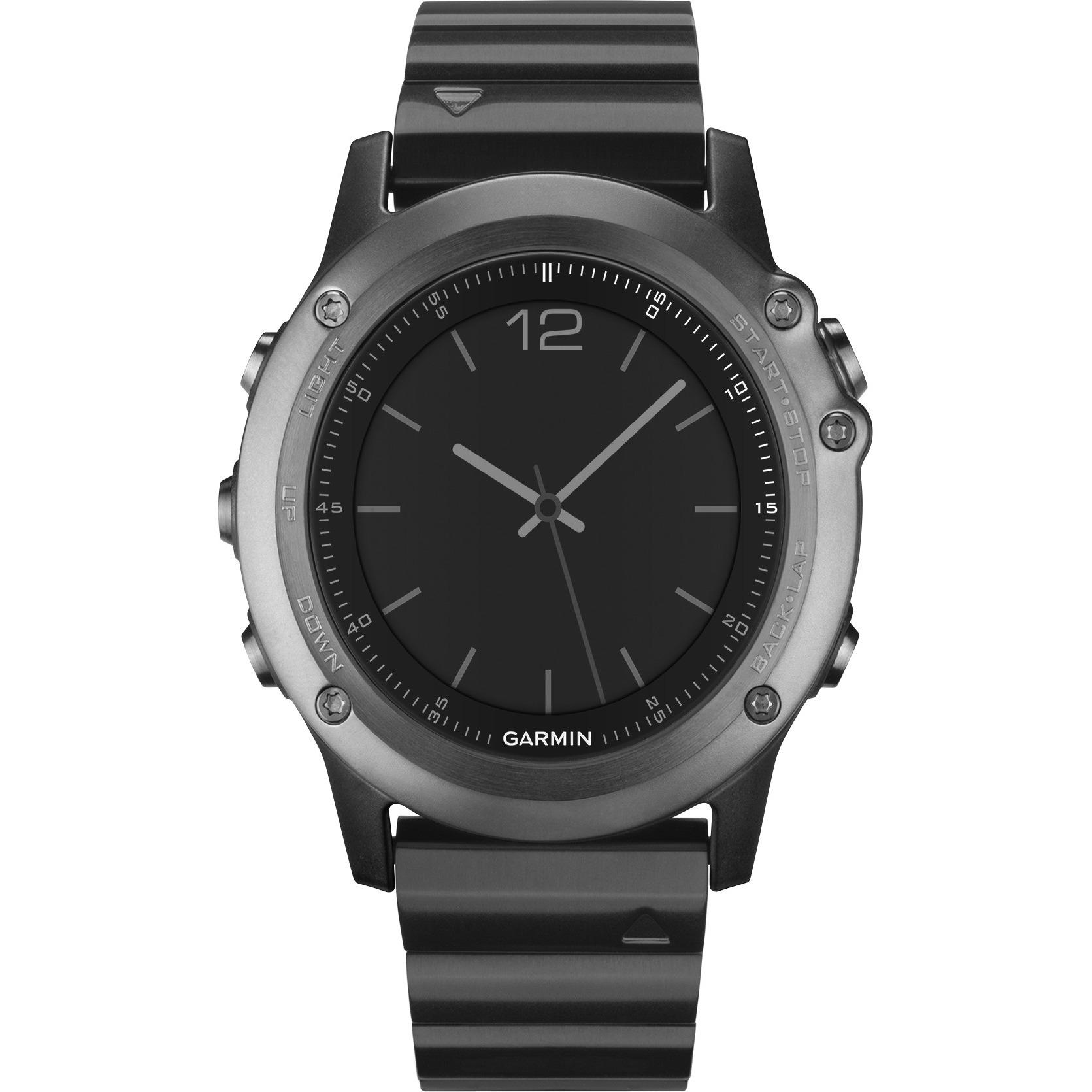 Garmin fenix 3 Sapphire with Metal Band - GPS/GLONASS watch - cycle, running, swimming - display: 1.2 in