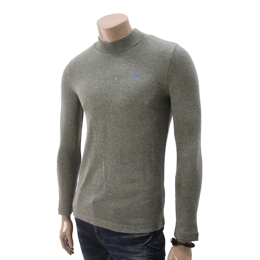 Mens Casual Knitted Turtleneck Sweater Shirt GRAY (DA14)
