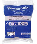 """Panasonic AMC-S5EP, The Panasonic AMC-S5EP 5-pack of type C-13 canister vacuum bags are for use with the Panasonic MC-3900 and MC-3920"