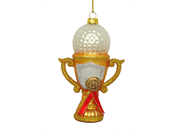 Noble Gems Blown Glass Golf Ball On Trophy Sports Christmas Ornament