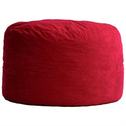 Comfort Suede Sierra Red 3 Ft Diameter Fuf Chair