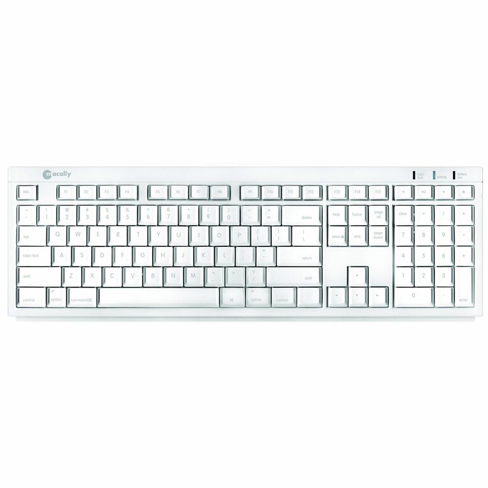 Macally BTKey Bluetooth Slim Keyboard - USB - White