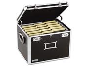 Locking File Chest Storage Box Letter/legal 17-1/2 X 14 X 12-1/2 Black