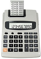 Datexx Dp-30ad 10 Digit Ac/dc Commuter Printing Calculator With Adapter - - 4 X Aa (battery Not Included) - Light Grey