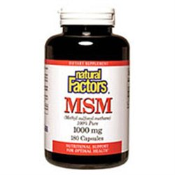 MSM 1000 mg 90 Caps by Natural Factors