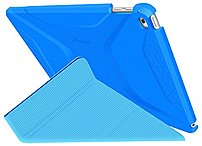 Roocase Rc-apl-air2-og-ss-pb/bb Origami 3d Slim Shell Carrying Case (folio) For Ipad Air 2 - Pacific Blue, Barbados Blue