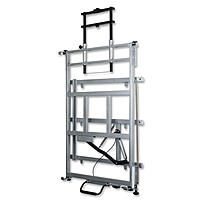 Balt Elevation Wall Mount For Whiteboard, Cart, Projector - 125 Lb Load Capacity - Platinum 27589