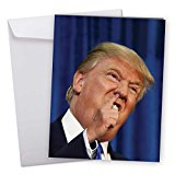 J3633BDG Jumbo Funny Birthday Card: Trump Pick With Envelope (Extra Large Version: 8.5'' x 11'')