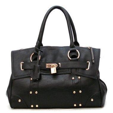 120512BK Cuffu Online Padlock Designer Inspired Shopper Hobo Tote Bag Purse Satchel Handbag w/Shoulder Strap Work School Office Lady Student Handbag Shoulder Bag Purse Totes Satchel Clutches Hobos