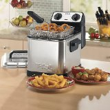 T-fal FR4049 Family Pro 3-Liter Oil Capacity Electric Deep Fryer with Stainless Steel Waffle, 2.6-Pound, Silver