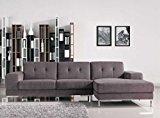 Divani Casa Forli - Modern Fabric Sectional Sofa