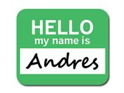 Andres Hello My Name Is Mousepad Mouse Pad
