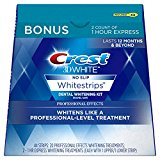 Crest 3D White Professional Effects Whitestrips Dental Teeth Whitening Strips Kit, 20 Treatments   BONUS 1 Hour Express Whitening Strips, 2 Treatments - (PACKAGING MAY VARY)