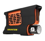 """Brunton Hydrogen Reactor Portable Fuel Cell - Orange Brand New Includes Lifetime Warranty, The Brunton Hydrogen Reactor is highly technical device that combines hydrogen with oxygen to produce electricity that will power electronic devices like cameras, smartphones, tablets, GPS, water purifiers and game consoles via a standard USB output"