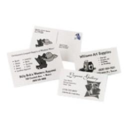 Avery - 50 pcs. 4) postal card paper