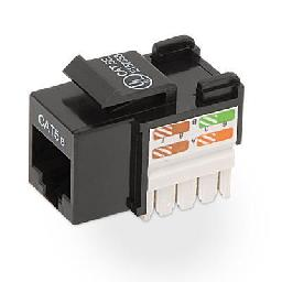 Belkin - Keystone jack - RJ-45 - black (pack of 25 )