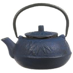 CLOSEOUTS . This Japanese Tetsubin-style Old Dutch Internationaland#39;s Cast Iron teapot was made by hand of specially purified cast iron and lined with porcelain for a perfectly extracted and flavorful cup of tea. Available Colors: MOSS GREEN, BLUE, RED.