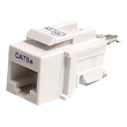 StarTech.com Cat5e Modular Keystone Jack White - Tool-Less - Keystone jack - RJ-45 - white