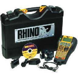 DYMO RhinoPRO 6000 Hard Case Kit - Labelmaker - monochrome - thermal transfer - Roll (0.95 in) - USB - 5 line printing  1 line printing  3 line printing