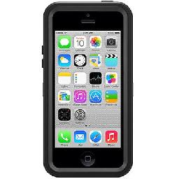 OtterBox Defender Series Apple iPhone 5c - Case for cell phone - polycarbonate  rubber - black - for Apple iPhone 5c