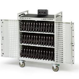 Bretford Basics Micro Computer Netbook Storage Cart NETBOOK42-CT - Cart for 42 notebooks - steel - concrete powder