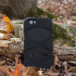 Griffin Survivor All-Terrain - Protective case for cell phone - silicone  polycarbonate - black - for Apple iPhone 6