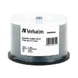 Verbatim DataLifePlus - 50 x CD-R - 700 MB (80min) 52x - white - ink jet printable surface  wide printable surface - spindle