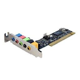 StarTech.com 5 Channel Low Profile PCI Sound Adapter Card – 24 Bits - Sound card - 24-bit - 96 kHz - 5.1 - PCI - VIA VT1723 - low profile