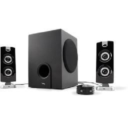 Cyber Acoustics CA-3602 - Platinum - speaker system - for PC - 2.1-channel - 30 Watt (total)