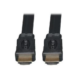 Tripp Lite 10ft High Speed HDMI Cable Digital Video with Audio Flat Shielded 4K x 2K M/M 10' - HDMI cable - HDMI (M) to HDMI (M) - 10 ft - triple shielded - black - flat