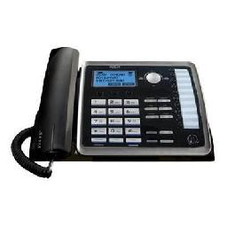 RCA ViSYS 25214 - Corded phone with caller ID/call waiting - 2-line operation - black  silver