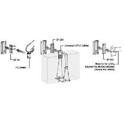 Wall Track is a low-cost  zero-footprint mounting system that attaches to most vertical surfaces
