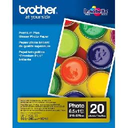 Brother BP71GLTR Premium Plus - Glossy - Letter A Size (8.5 in x 11 in) 20 sheet(s) photo paper - for Brother MFC-J5830  J6535  J690  J775  INKvestment Work Smart MFC-J985