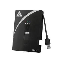 "Apricorn Aegis Bio A25-3BIO256-1000 - Hard drive - encrypted - 1 TB - external (portable) - 2.5"" - USB 3.0 - 5400 rpm - buffer: 8 MB - FIPS 197"